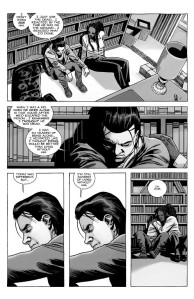 The Walking Dead #192- Carl talks with Michonne about shooting his father