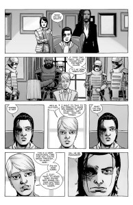 The Walking Dead #192- Pamela tells Carl and Michonne that Sebastian killed Rick
