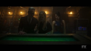 Chapter 24- Cary, Syd, and Kerry stand next to Switch's chamber- Legion, FX
