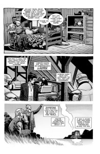 The Walking Dead #193- Aaron and Jesus appear as Carl reads the story of Rick Grimes to young Andrea