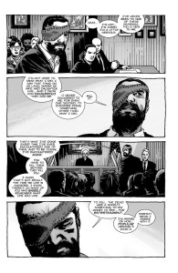 The Walking Dead #193- Carl and Hershel at hearing on the loss of Hershel's roamers