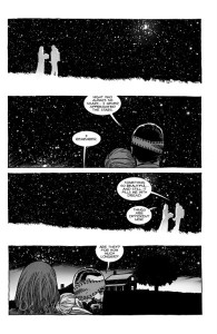 The Walking Dead #193- Carl and Sophia stare at the starry night sky