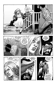 The Walking Dead #193- Carl tells Sophia that he killed the wandering roamer