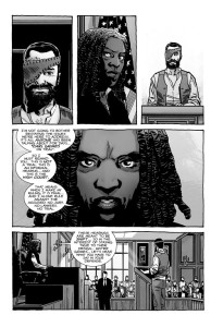 The Walking Dead #193- Judge Michonne Hawthorne presiding over Carl's hearing