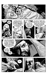 The Walking Dead #193- Lydia surprised that Carl wears his eye patch when he sleeps at night
