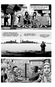 The Walking Dead #193- Magna, Yumiko, Eugene, and Laura show up as Carl tells the story of Rick Grimes