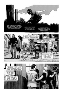 The Walking Dead #193- Negan, Princess, Mercer, and Sophia as Carl tells the story of Rick Grimes