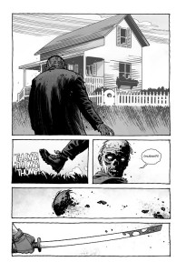 The Walking Dead #193- Roamer approaches Carl's home