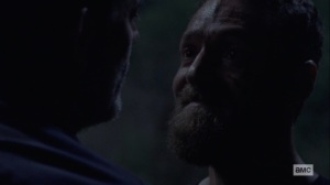 Ghosts- Aaron tells Negan that he failed his wife- AMC, The Walking Dead
