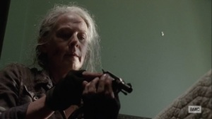 Ghosts- Carol gets a gun- AMC, The Walking Dead