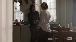 Ghosts- Daryl gives Carol some money- AMC, The Walking Dead