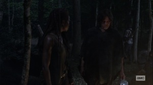 Ghosts- Daryl tells Michonne that Carol hasn't been the same since she got back- AMC, The Walking Dead