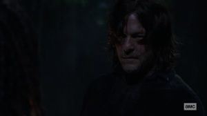 Ghosts- Daryl tells Michonne that Carol isn't sleeping- AMC, The Walking Dead