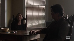 Ghosts- Eugene and Rosita talk about their rough night- AMC, The Walking Dead
