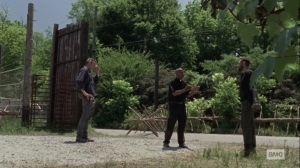 Ghosts- Gabriel tells Aaron that Negan is going with him- AMC, The Walking Dead