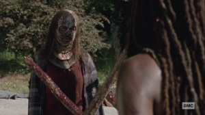 Ghosts- Gamma tells Michonne to head to the North border- AMC, The Walking Dead
