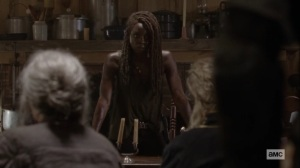 Ghosts- Michonne asks for unity in dealing with the Whisperers- AMC, The Walking Dead