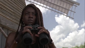 Ghosts- Michonne spots walkers approaching- AMC, The Walking Dead