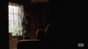 Ghosts- Negan and Aaron in the cabin- AMC, The Walking Dead