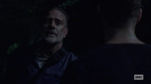 Ghosts- Negan justifies himself to Aaron- AMC, The Walking Dead