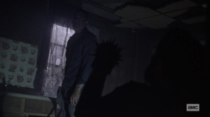 Ghosts- Negan tells Aaron that he's going to keep watch for the night- AMC, The Walking Dead