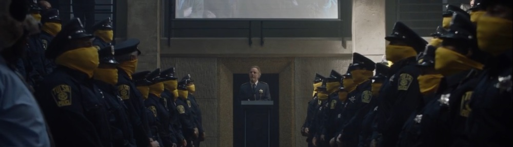 It's Summer and We're Running Out of Ice- Officers at attention- HBO, Watchmen