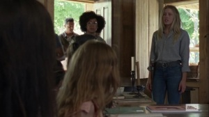 Lines We Cross- Alexandria council wonders if Lydia should stay for the meeting- AMC, The Walking Dead