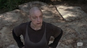 Lines We Cross- Alpha stares down Carol- AMC, The Walking Dead
