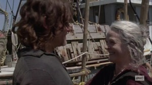 Lines We Cross- Daryl and Carol hug- AMC, The Walking Dead