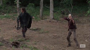 Lines We Cross- Daryl and Carol pursue a deer- AMC, The Walking Dead