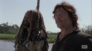 Lines We Cross- Ezekiel tells Daryl about his fear of birds- AMC, The Walking Dead