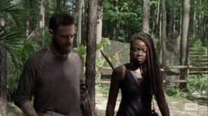 Lines We Cross- Michonne and Aaron talk about dealing with the Whisperers- AMC, The Walking Dead