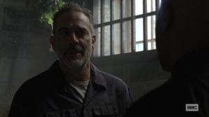 Lines We Cross- Negan talks with Gabriel about security- AMC, The Walking Dead