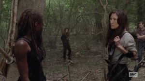 Lines We Cross- Yumiko has something to show Michonne- AMC, The Walking Dead