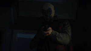 Marital Feats of Comanche Horsemanship- Kavalry member points gun at Angela- HBO, Watchmen