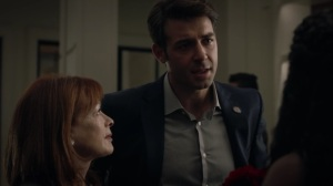Marital Feats of Comanche Horsemanship- Senator Joe Keene, played by James Wolk, introduces himself to Angela- HBO, Watchmen