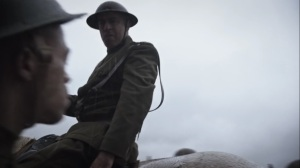 Marital Feats of Comanche Horsemanship- White soldier spits on Black soldier- HBO, Watchmen