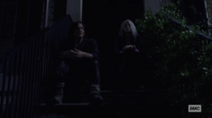 Silence the Whisperers- Carol and Daryl talk about the situation with the Whisperers- AMC, The Walking Dead