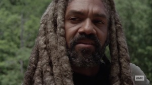 Silence the Whisperers- Ezekiel confides in Michonne- AMC, The Walking Dead