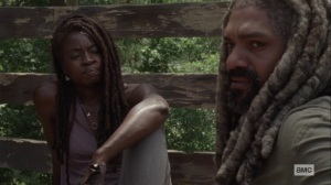 Silence the Whisperers- Ezekiel tells Michonne about everything he's lost- AMC, The Walking Dead