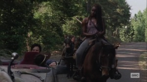 Silence the Whisperers- Judith asks Michonne about the Whisperers- AMC, The Walking Dead