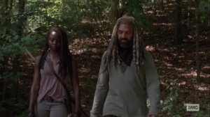 Silence the Whisperers- Michonne and Ezekiel walk back- AMC, The Walking Dead