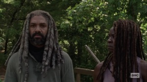 Silence the Whisperers- Michonne joins Ezekiel at the edge- AMC, The Walking Dead