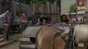 Silence the Whisperers- Michonne, Judith, and Luke leave Hilltop for Oceanside- AMC, The Walking Dead