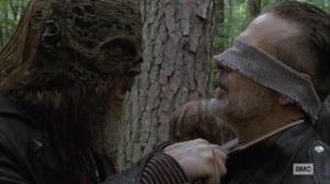 Bonds- Beta threatens to cut Negan's throat- AMC, The Walking Dead