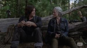 Bonds- Carol and Daryl throw acorns- AMC, The Walking Dead