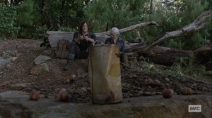 Bonds- Carol and Daryl toss acorns at a can- AMC, The Walking Dead