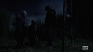 Bonds- Carol takes a Whisperer hostage- AMC, The Walking Dead