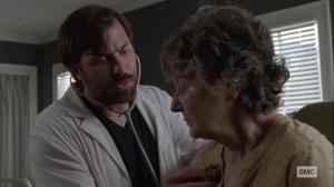 Bonds- Dante examines an Alexandria resident- AMC, The Walking Dead