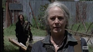 Bonds- Daryl stops Carol as she's leaving Alexandria- AMC, The Walking Dead